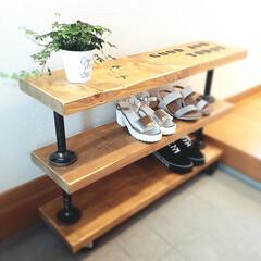 家具/カフェ/日曜大工/DIY/DIY女子/ハンドメイド/... ステンシルして完成👍🏼