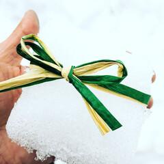 ラッピング/リボン/雪/大雪/福井/越前市/... 福井県産の雪1円で売ります、、笑  雪見…