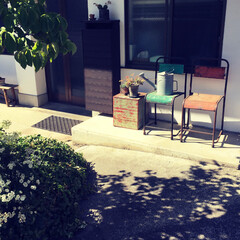 お洒落/エクステリア/椅子 /アンティーク/DIY/インテリア/... ノスタルジック、もう夏