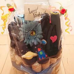 100均/ハンドメイド/おむつケーキ/男の子/手作り 娘の友達へ出産祝いのおむつケーキ‼ 男の…