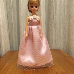 リカちゃん 家にあるもので、初めてリカちゃんのドレス…