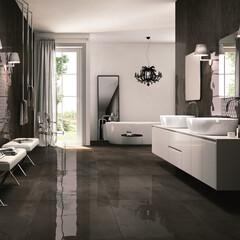 FIANDREタイル/洗面、シャンデリア、ミラー、家具 最大3×1.5mの大判タイル