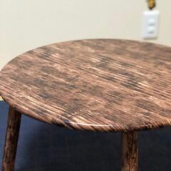 テーブルリメイク/リメイクシート/DIY/100均/ダイソー/家具 アンパンマンテーブルを ちゃぶ台風にリメ…