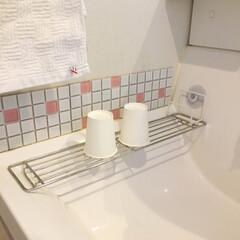 洗面所/コップ置き場 ご質問頂いていた洗面所の、コップ置き場*…