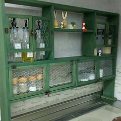 シンデレラフィット/DIY/100均/セリア/キッチン 最初に枠組を作って、フロントをどうしよう…