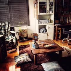 ソファのない生活/ソファのないリビング/リビング/家具リメイク/DIY/アウトドアミックス/... 最近のリビング