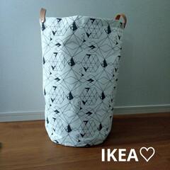 洗濯/ランドリーバスケット/IKEA/ランドリーボックス/イケア/暮らし IKEAで一目惚れして購入しました。ラン…