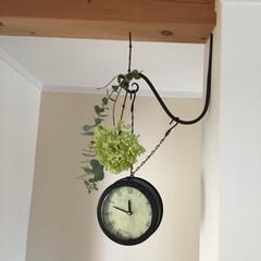 時計の作り方/ケーキ型/ドライフラワー/両面時計/手作り/DIY/... 100均DIY♪ダイソーセリアの材料で作…(1枚目)