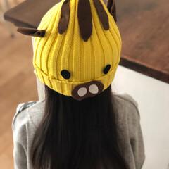 イノシシ年/年賀状/ニット帽/リメイク/DIY/ハンドメイド/... 年賀状の写真撮影に! ニット帽をイノシシ…