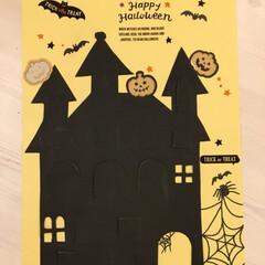 アドベントカレンダー/子供と一緒に/画用紙/ハロウィングッズ/ハロウィンパーティー/ハロウィンカード/... 画用紙でハロウィンのアドベントカレンダー…