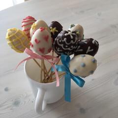 イースター手作り/イースターお菓子/お菓子/手作り/ケーキポップ/イースター/... 子供たちと一緒に作ろう♪ 簡単可愛い手作…