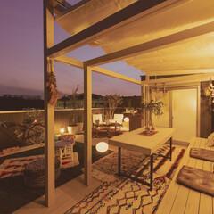 屋上/グランピング/戸建て/木造/アウトドア/ピクニック 自宅屋上でグランピング。 木造の戸建住宅…