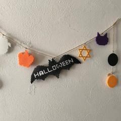 ハロウィン2019/かぼちゃ/アイロンビーズ/毎年飾れる/長さ調整可能/コウモリ/... 大好きなアイロンビーズ で、 ハロウィン…