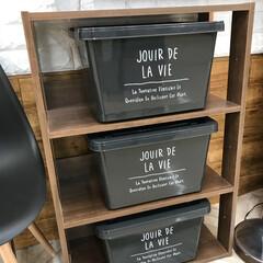 島忠ホームズ小平店/雑貨/インテリア/収納 可愛いコンテナBOX!黒バージョン。
