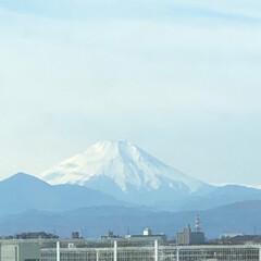 島忠ホームズ小平店/大晦日/富士山/冬/風景 今年最後の職場の屋上は 晴れて富士山が良…
