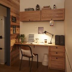 キッチン/木/木材/テーブル/チェア/スツール/... キッチンのそばに、料理しながら別のことが…