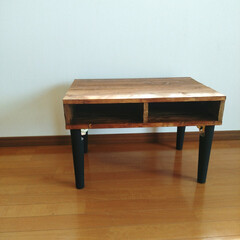 リメイク/DIY/テーブル/パレット/パレット風/折りたたみテーブル 低くて使いにくかった 折りたたみテーブル…