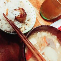 おうちごはん/ごはん 秋のごちそう!栗ご飯と豚汁