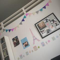 壁/北欧/ガーランド/ガーリー/DVD/CD/... IKEAの写真フレーム&ミカヅキモモコの…