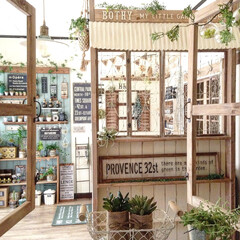 DIY/セルフリノベーション/手作り家具/寝室/ステンシル/窓枠/... 家の中だけど、外にいる気分♪