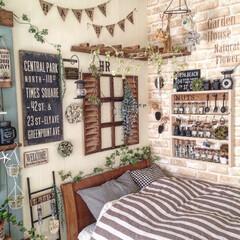 DIY/寝室/ガーデン風/窓枠/100均/リメイク/... 星を眺めながら眠れたらなぁ〜から始まった…