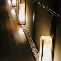廊下/行灯/DIY/100均 廊下が薄暗いので、行灯。  100均のコ…