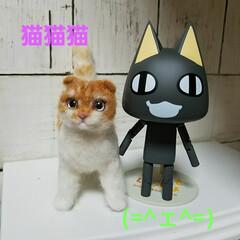 人形/ペット雑貨/羊毛フェルト/ハンドメイド モデルさんの猫はもっと美人さんなんですけ…