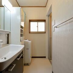 洗面所/リフォーム/洗面化粧台/水まわり 三世代が集う、シックな大人テイストの空間…