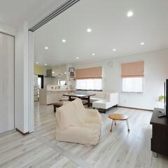 内装/インテリア/統一感/明るいリビング/明るい部屋/開放感/... 内装を明るい色で統一し、開放感のあるLD…