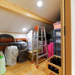 4畳/4帖/小屋裏/屋根裏/収納/スペース有効活用/... 4帖の小屋裏収納。 季節ものや普段あまり…