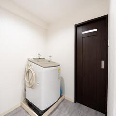 お風呂/洗面所/脱衣所/リフォーム/スタイリッシュインテリア/内装/... お風呂とテイストを合わせて洗面所の内装を…