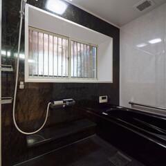 黒/モノクロインテリア/浴室コーディネート/お風呂/浴室/システムバス/... 黒が基調のスタイリッシュなシステムバスに…