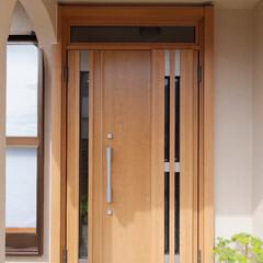 リクシル/玄関ドア/リシェント/ナチュラル/木目/加古川市/... LIXILの玄関ドア「リシェント」に取り…