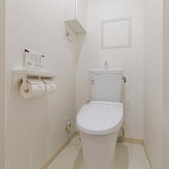 白/ホワイト/清潔/明るい空間/トイレ/インテリア/... 白で統一したトイレ。(姫路市F様邸のマン…