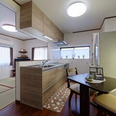 壁付けキッチン/対面キッチン/システムキッチン/クリナップ/ラクエラ/キッチンレイアウト/... 壁付けキッチンから対面キッチンに変更しま…