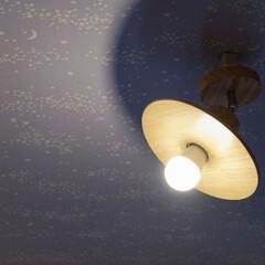 玄関/ホール/天井/クロス/内装/リフォーム/... 玄関ホールの天井に星空クロス、照明はUF…