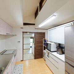 間取り変更/キッチン/ダイニング/動線の良いキッチン/LDK/家事/... 間取り変更によりキッチンの隣がすぐダイニ…