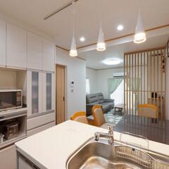 キッチンリフォーム/キッチン収納/カップボード/食器棚/収納/加古川市/... キッチン横におそろいのカップボードを設置…