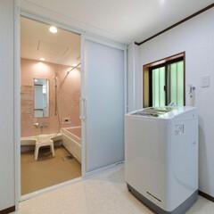 間取り変更/浴室拡張/お風呂/浴室/リフォーム/ノーリツ/... 間取り変更で以前よりもスペースを広くとり…