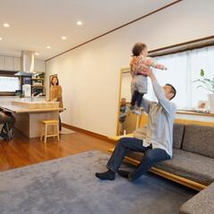 子育て/LDK/リビング/アイランドキッチン/システムキッチン/暮らし 子育てしやすい、開放感のあるLDK (加…