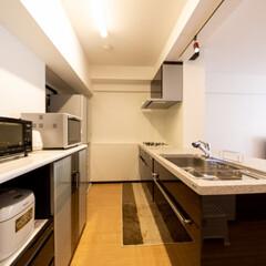シック/キッチンの色/キッチンリフォーム/システムキッチン/スタイリッシュ/高級キッチン/... シックな色合いで落ち着いた雰囲気のキッチ…