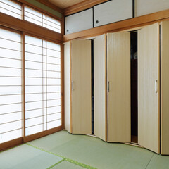 たんす/和室/和室リフォーム/建具/収納 たんす置き場に建具新設ですっきり(高砂市…