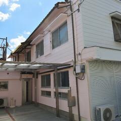 外壁塗装/外装/外観/ピンクの家/白色/ピンク/... ご高齢の方も安心、快適。可愛らしく温かみ…