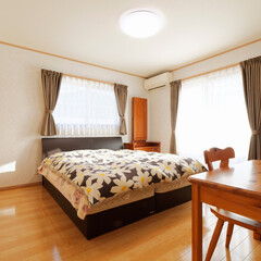 寝室/クローゼット/大容量/収納/収納スペース/新築/... ご夫婦の寝室。 物を大切になさるご主人の…