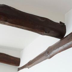 古民家/昔の家/古い家/大きな梁/梁/梁見せ/... 古民家ならでは立派な梁を見せた天井。(加…
