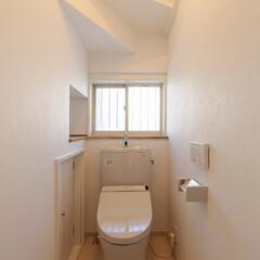 シンプル/掃除簡単/トイレ/トイレリフォーム/トイレインテリア/トイレ内装/... シンプルでお掃除簡単なトイレ。入り口の段…
