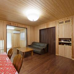 無垢の部屋/無垢の家/LDK/リフォーム/天然木/木のぬくもり 壁・天井に無垢板を貼ったLDK(加古川市…