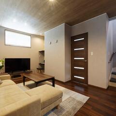 LDK/リビング/マイホーム/階段/間取り/家/... LDKの中に階段を配置、家族が顔を合わせ…