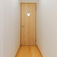 ミッキー/ミッキーマウス/ディズニー/キャラクター/ドア/扉/... ミッキーのドアがトイレの目印(高砂市M様…