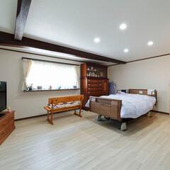 和室/洋室/介護/介護ベッド/寝室/古民家/... 和室を洋室に変更。介護ベッドの置ける寝室…